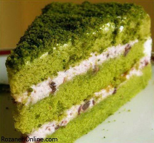 طرز تهیه کیک چای سبز با استفاده از پودر چای سبز