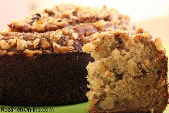 طرز تهیه کیک گردویی در 30 دقیقه