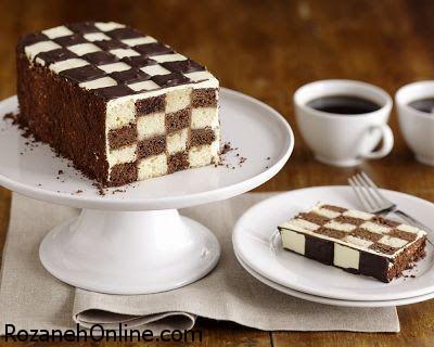 دستور تهیه کیک شطرنجی با رسپی بسیار راحت