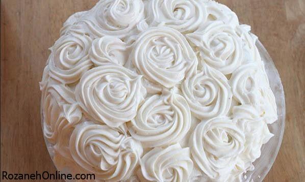 طرز تهیه کرم پفی جهت تزیین روی کیک