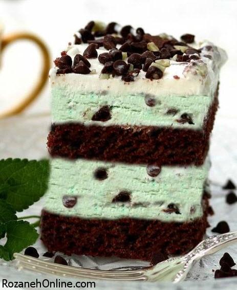 طرز تهیه کیک بستنی شکلاتی ویژه جشن روز مادر