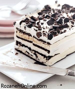 طرز تهیه کیک چیپس شکلاتی در مدت 45 دقیقه