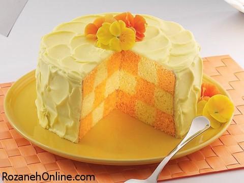 طرز تهیه کیک پرتقالی بهمراه کاپوچینو