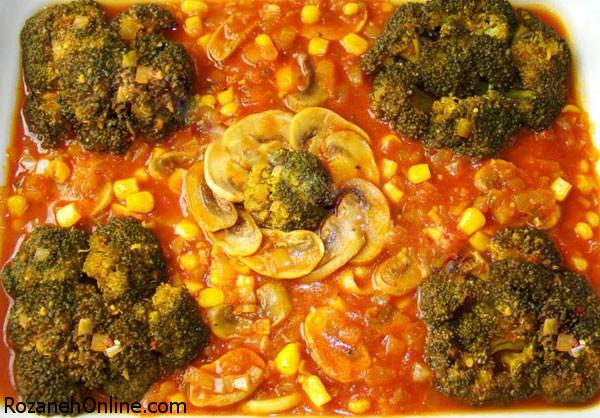 طرز تهیه خورش سویا و کلم بروکلی غذایی برای درمان حساسیت فصلی