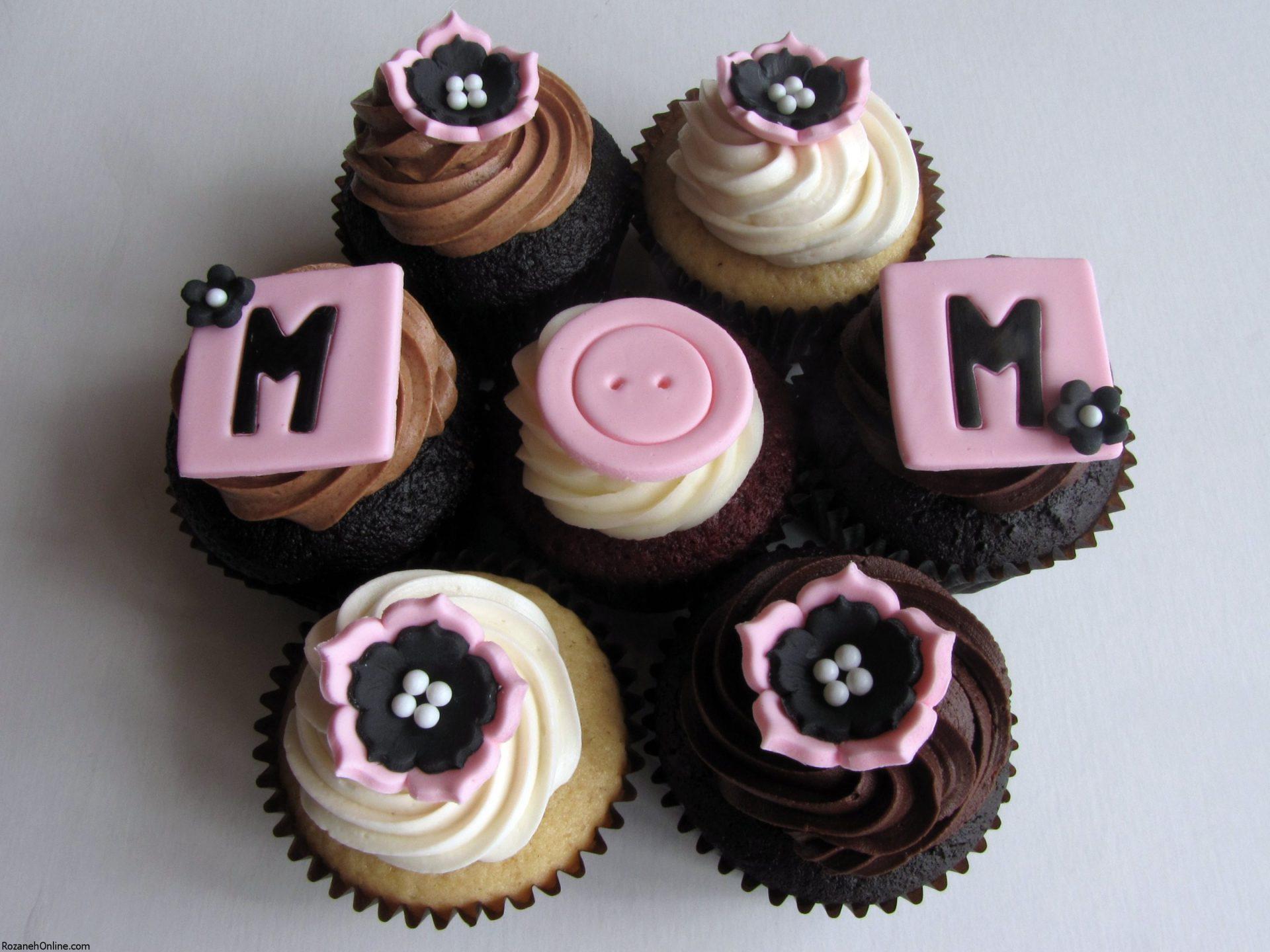 طرز تهیه کاپ کیک روز مادر و مدل تزیین آن