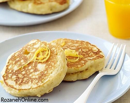 دستور تهیه پنکیک لیمو و پنیر خامه ای یک صبحانه عالی