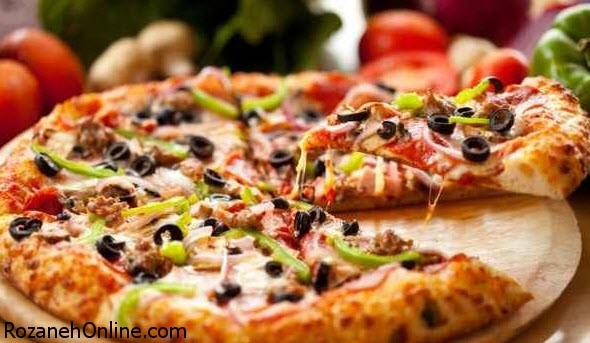 طرز تهیه پیتزا سبزیجات کاملا رژیمی و مغذی