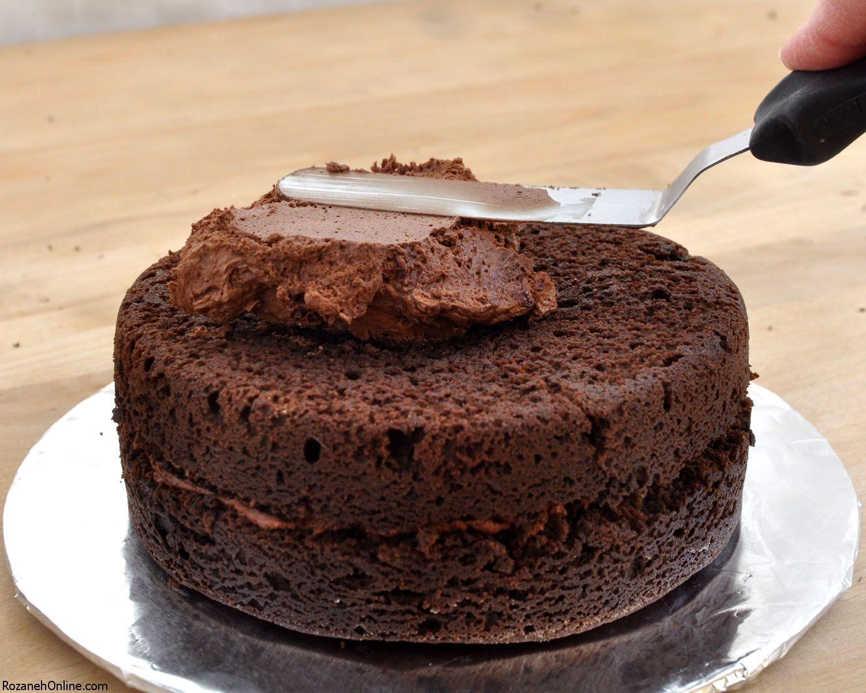 مزده دار کردن کیک با تهیه رویه کیک