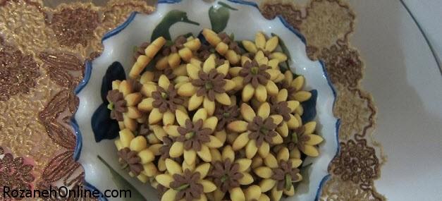 طرز تهیه شیرینی گل بنفشه ای ویژه سال نو
