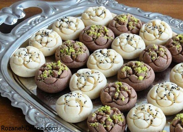آموزش پخت شیرینی آردی دو رنگ ویژه نوروز