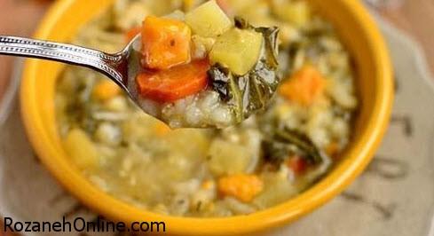 طرز تهیه سوپ رژیمی چربی سوز با گل کلم سفید
