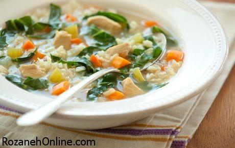 طرز تهیه سوپ رژیمی همراه با مرغ و کدو