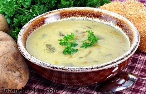 طرز تهیه سوپ سیب زمینی گیاهی غذایی ویژه فصل سرما