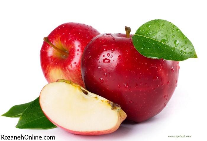 تصاویر زیبا از سیب های قرمز خوش رنگ