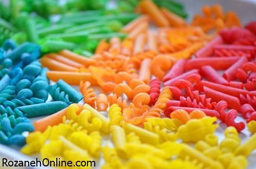 آموزش پخت ماکارونی رنگی در منزل بدون هزینه اضافی
