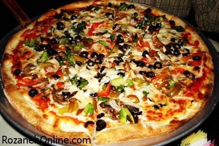 دستور پخت پيتزای سبزی یا همان ساندویچ پیتزا سوفله