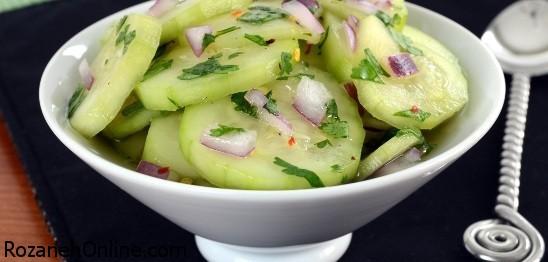 طرز تهیه سالاد خیار اندونزی ویژه شام شب تابستانی در هوای گرم