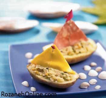 طرز تهیه غذا با قایق ویژه کودکان بد غذا