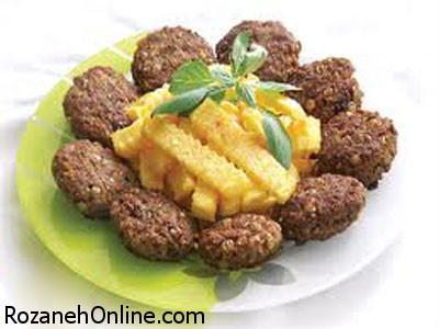 پخت غذای رژیمی همراه با قارچ و گوشت چرخ کرده
