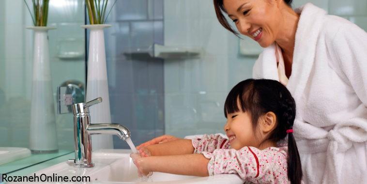 اهمیت شُستن دستها برای کودک