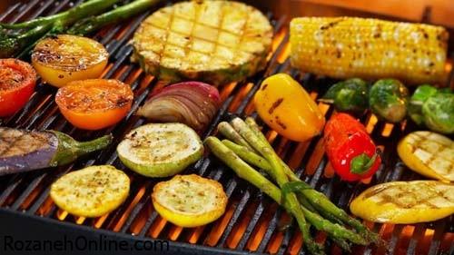 کباب کردن سبزیجات و راههایی برای ترد و نرم شدن آن