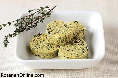 درست کردن کره سبزیجات با بوی عطر ریحان و جعفری تازه