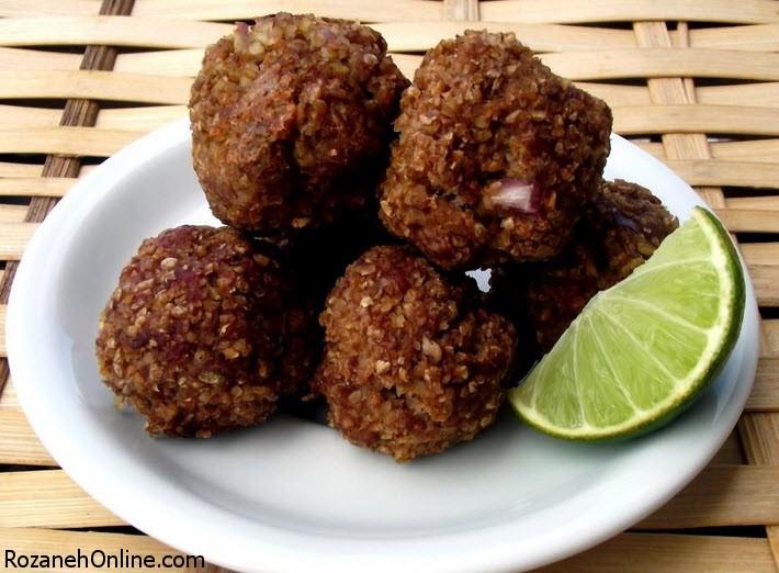 دستور تهیه کیبه یک کوفته اصیل لبنانی