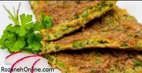طرز تهیه کوکو لوبیا سبز و مرغ ویژه یک شام بسیار سبک و عالی