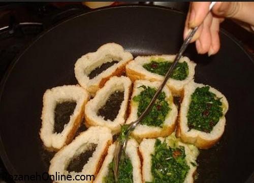 طرز تهیه کوکو سبزی با نان باگت یک ساندویچ عالی برای تغذیه