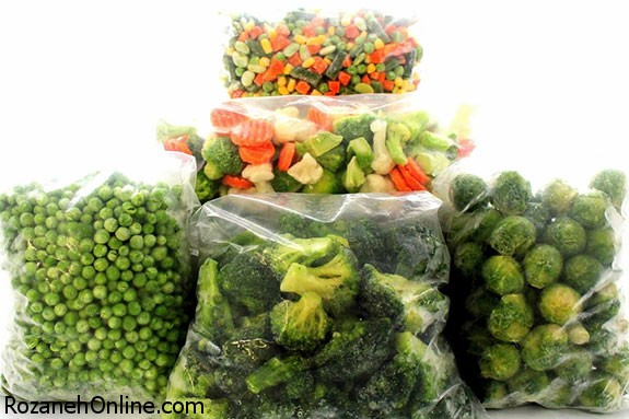 منجمد کردن سبزیجات با استفاده از نکات صحیح زیر