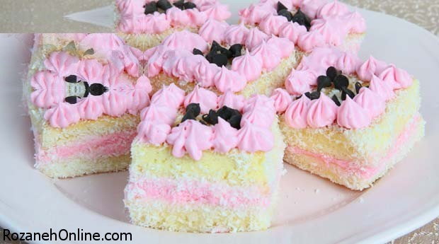 آموزش کیک صورتی  تک نفره