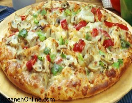 طرز پخت پیتزای مرغ و ذرت به روش ایتالیایی ها