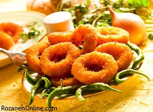 پیاز حلقه ای سوخاری ویژه یک پیش غذای تابستانی