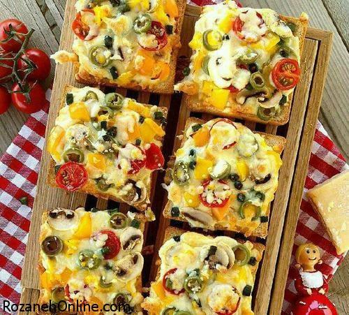 طرز تهیه پیتزای فوری با استفاده از کنسرو لوبیا چیتی