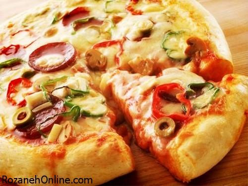 طرز تهیه پیتزا کم کالری ویژه افراد دارای رژیم