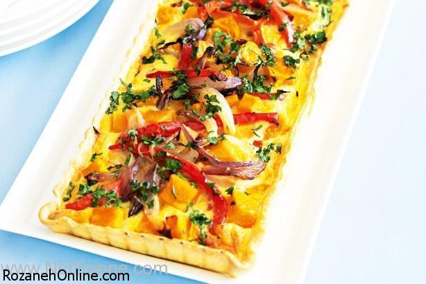 طرز تهیه پیتزای سبزیجات ترش مزه با فلفل های رنگی