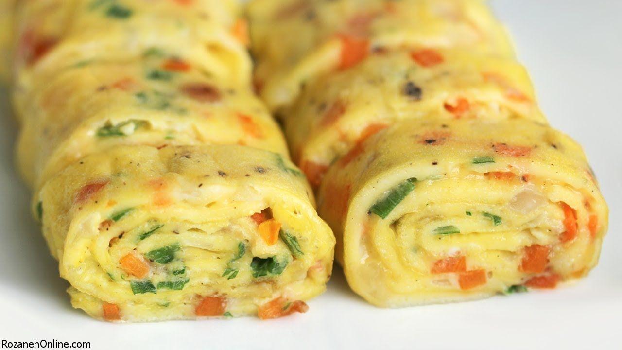 طرز تهیه رولت تخم مرغ به سبک و روش کاملا سنتی
