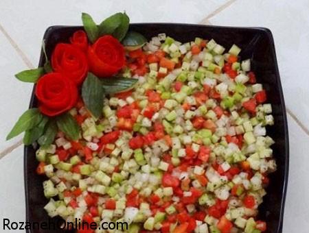 سالاد شیرازی اصیل را اینگونه با سرکه مزه دار کنید!