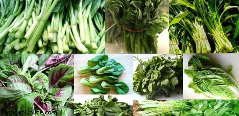 مزایای سبزیجات برگ دار برای بدن