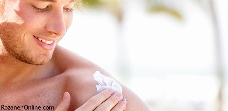 عوارض جانبی کرم ضد آفتاب برای مردان