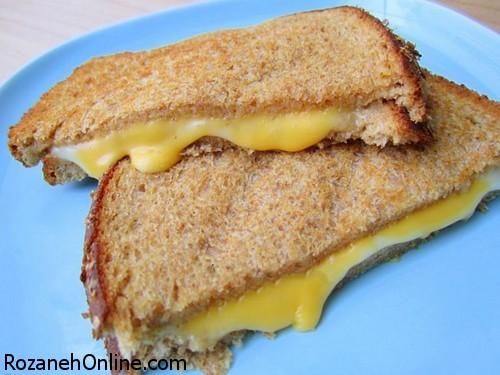 دستور تهیه ساندویچ پنیر کبابی یک پیش غذای عالی