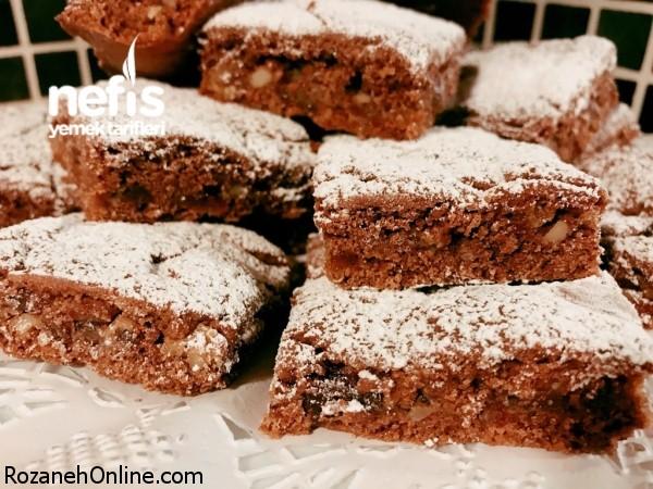 آموزش شیرینی مغزدار کاکائویی با خرما و گردو