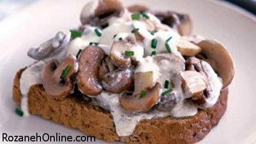 درست کردن اسنک قارچ و جعفری یک غذای بسیار سریع