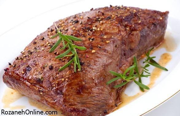 طعم دار کردن گوشت با خواباندن گوشت در نمک