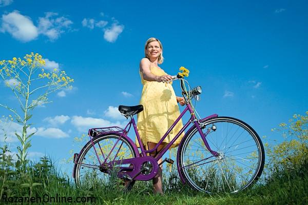 بارداری و دوچرخه سواری:آیا می توانیم در دوران بارداری دوچرخه سواری کنیم؟