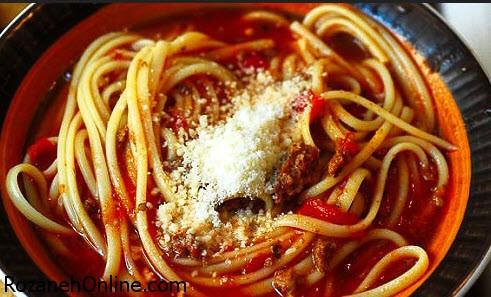طرز تهیه سوپ اسپاگتی یک سوپ بسیار خوشمزه و ساده