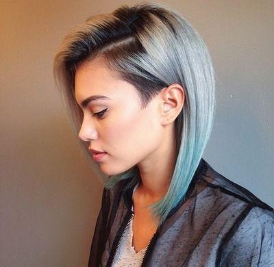 مدل مو یک طرف تراشیده