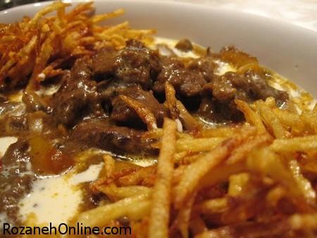 آموزش پخت خوراک بیف ویستاول با سس سویا