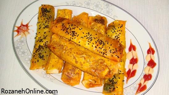 پخت بورک با یوفکا همراه با مارگارین نرم شده