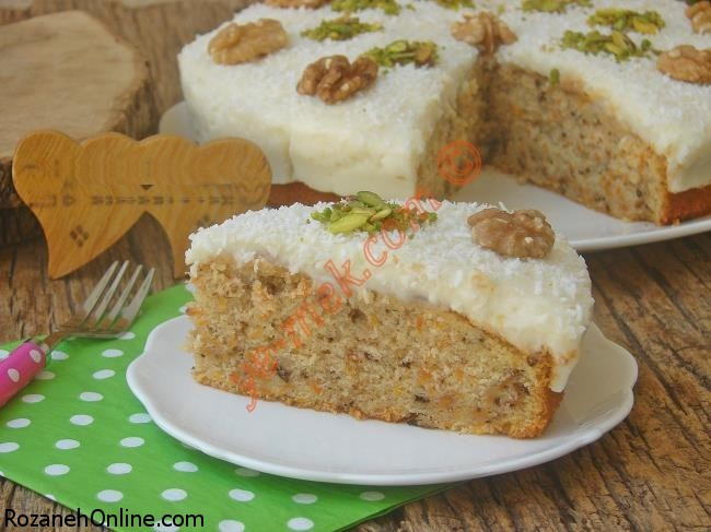 طرز پخت کیک هویج کرمدار